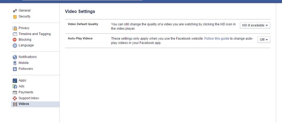 Auto reporduktimi i videove në Facebook
